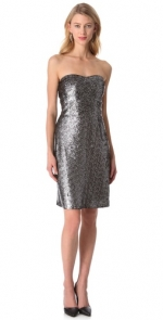 Carrie's strapless glittery dress by Rebecca Taylor at Shopbop
