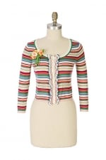 Carrie's striped cardigan at Anthropologie at Anthropologie