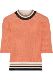 Carven   Color-block ribbed-knit sweater at Net A Porter