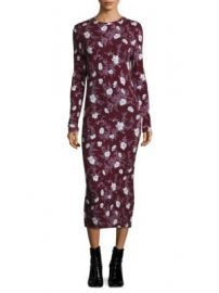 Carven - Long Jersey Floral Dress at Saks Fifth Avenue