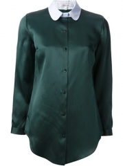 Carven Contrast Collar Blouse - Curve at Farfetch
