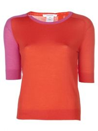 Carven Contrast Sleeve Sweater - at Farfetch