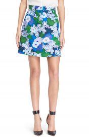 Carven Floral Print A-Line Skirt at Nordstrom