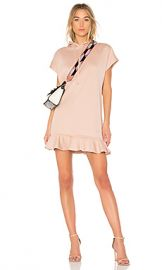 Carven Hoodie Dress With Ruffles in Fond De Teint from Revolve com at Revolve