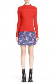 Carven Mixed Stitch Wool Blend Sweater at Nordstrom
