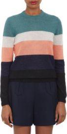Carven Multicolor-Stripe Pullover Sweater at Barneys