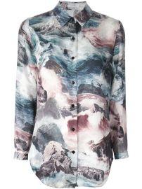 Carven Ocean Print Shirt - Roman Prat at Farfetch