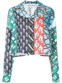 Carven Patchwork Print Shirt  606 - Buy Online - Mobile Friendly  Fast Delivery  Price at Farfetch