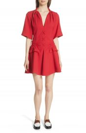 Carven Robe Courte Lace-Up Dress at Nordstrom