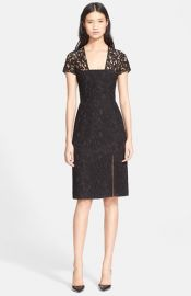 Carven Short Sleeve Lace Sheath Dress at Nordstrom
