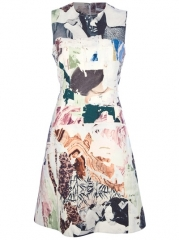 Carven Sleeveless Graphic Dress - Babylon Bus Women at Farfetch