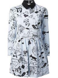 Carven Striped Tattoo Print Dress - Hampden at Farfetch