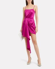 Cascade Pink Satin Dress by Fleur Du Mal at Intermix