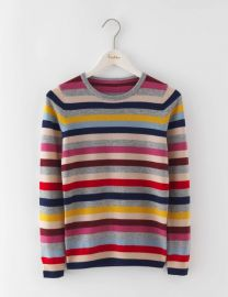Cashmere Crew Neck Sweater in Multi Stripe at Boden