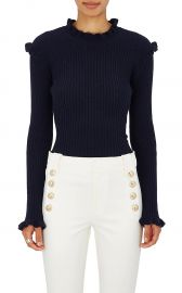 Cashmere Embellished Rib-Knit Sweater at Barneys