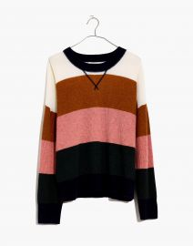 Cashmere Sweatshirt in Vernon Stripe  at Madewell