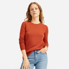 Cashmere crew in rust at Everlane