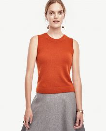 Cashmere cropped shell at Ann Taylor
