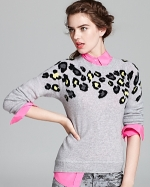 Cashmere leopard spot sweater by Aqua at Bloomingdales