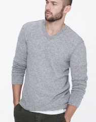 Cashmere v neck sweater at James Perse