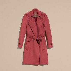 Cashmere wrap trench coat at Burberry