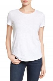 Caslon   Slub Crewneck Tee  Regular   Petite at Nordstrom