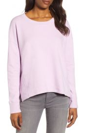 Caslon Side Slit Relaxed Sweatshirt at Nordstrom