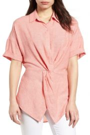 Caslon Twist Front Linen Shirt at Nordstrom Rack
