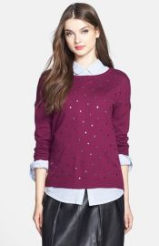 Caslonand174 Studded Sweater at Nordstrom