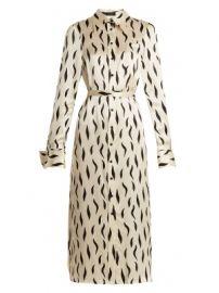Cassidy point-collar zebra-print silk shirtdress at Matches