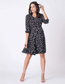 Casual A Line Keyhole Nursing Dress by Seraphine at Amazon