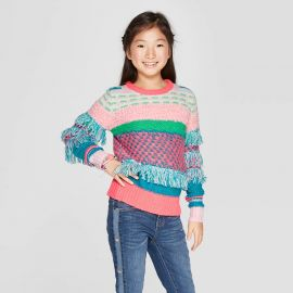 Cat & Jack Fringe Pullover Sweater at Target