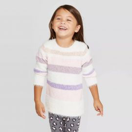 Cat & Jack Long Sleeve Striped Pullover Sweater at Target