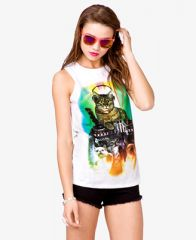 Cat Party Muscle Tee at Forever 21