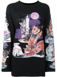 Cat Print Sweatshirt by MM6 Maison Margiela at Farfetch