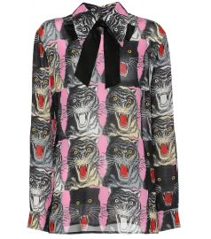 Cat-printed top at Mytheresa