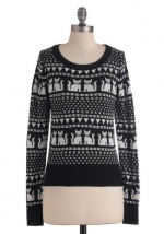 Cat sweater at Modcloth at Modcloth