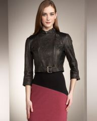 Catherine Malandrino Cropped Motorcycle Jacket at Neiman Marcus