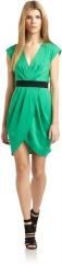 Catherine Malandrino Green Mock Wrap Dress at Saks Fifth Avenue