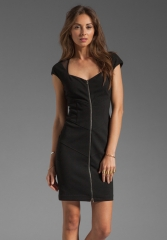 Catherine Malandrino zip front dress at Revolve