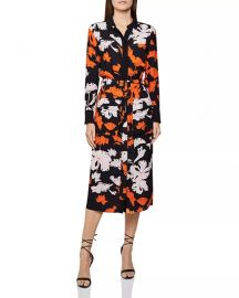 Cathleen Floral-Print Midi Shirt Dress at Bloomingdales
