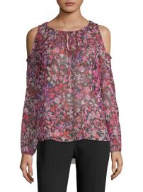 Cathy Cold-Shoulder Silk Blouse at Saks Fifth Avenue