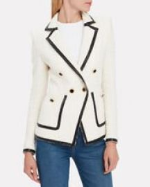 Cato Double Breasted Tweed Blazer at Intermix