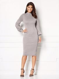 Catrina Metallic Sweater Dress by Eva Mendes Collection at New York & Company