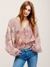 Caught Up Printed Blouse at Free People