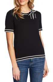 CeCe Bow Neck Short Sleeve Sweater   Nordstrom at Nordstrom