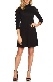 CeCe Bow Sleeve Mock Neck Sweater Dress at Nordstrom