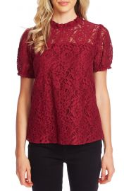 CeCe Puffed Sleeve Floral Lace Blouse   Nordstrom at Nordstrom