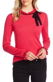 CeCe Ruffle Bow Neck Sweater   Nordstrom at Nordstrom