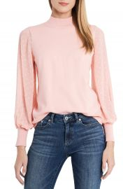 CeCe Clip Dot Sleeve Sweater   Nordstrom at Nordstrom